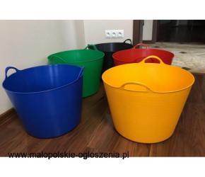 POJEMNIK plastikowy kubeł gospodarczy na pranie, zabawki i inne drobiazgi 42l